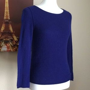 Uniqlo 100% Cashmere Pullover Blue Super Soft